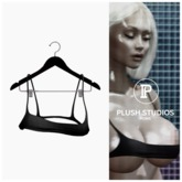 PlushStudios. Nip Slip Tank - Caviar