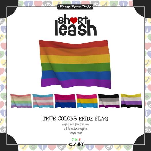 .:Short Leash:. True Colors Pride Flag