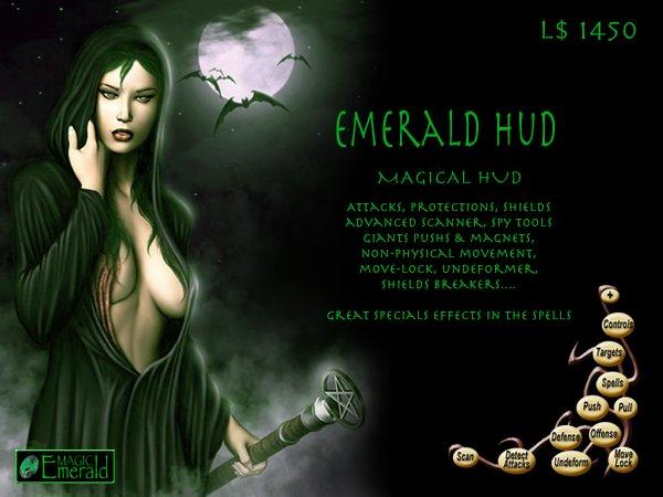 [SALE] Emerald HUD - Spell & Combat HUD