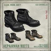 [DustyHut] Repairman Boots - For Classic Non-mesh avatar bodies
