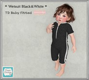 *CC* TD Baby {fitted} Wetsuit Black&White [ADD]