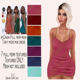 DCI texture set for byCrash Full perm mesh-Tight micro mini dress
