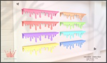 paper.crowns - drippy shelves