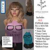 Nerdy But Cute  Short set onepiece 100% rigged Mesh  In Blue