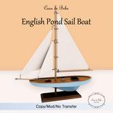 {CdB} English Pond Sail Boat