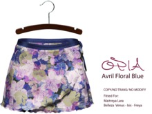 OPIA Avril Skirt Floral Blue