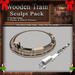 Christmas / Holiday Wooden Train Set Sculpt Pack, Sculpted Toy Train, 13 Sculpty Maps & 29 Textures Full Perms