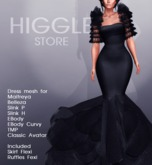 [Higgle] Dress Gown  Black (New  Collection / Royal )