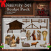 Christmas Nativity Set Sculpt Pack, Christmas / Holiday Sculpted Manger, 27 Sculpty Map & 23 Textures Full Perms