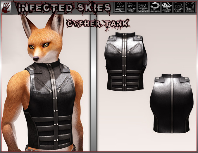 *IS* Cypher Tank Furry Black
