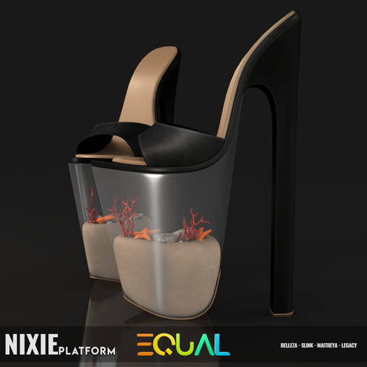 EQUAL - Nixie Platforms BLACK