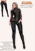 DriBbble *** Steampunk Pants and Boots Black
