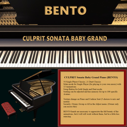 Culprit * Sonata Baby Grand Piano BENTO