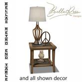 [BR] Bellas Retro End Table & Decor