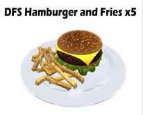 DFS Hamburger and Fries x5