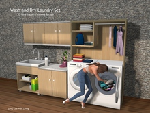 Wash and Dry Laundry Set - animated