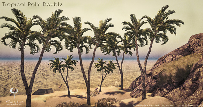 LB Tropical Palm Double Animated Mesh