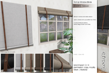 Sway's [Evan] Roll Up Window Blinds . Natural