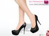 Full Perm Ladies Black Classic Stilettos Shoes Maitreya Mid Heel, Slink Mid Heels