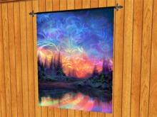 TAPESTRY HANGING WALL ART ON ROD-Artist Forest Rainbow Print-Home Decor Interior Design copy/mod 1 Prim PROMO SALE