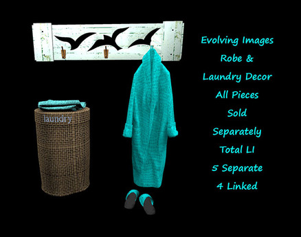 Second Life Marketplace Laundry Hamper Teal Modifiable Copyable