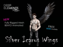 [DeepElements] : Silver Icarus Wings (Version 2.0) - MOD