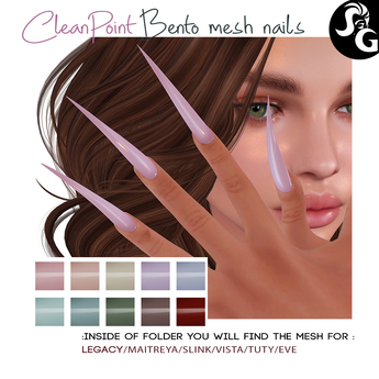 ::SG:: CleanPoint  Bento Mesh Nails (JU-19)
