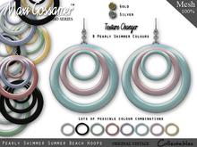MG - Earrings - Pearly Shimmer Summer Beach Hoops - V2