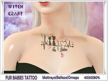 [WitchCraft] Fur Babies Tattoo