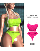 LIFESTYLE. Two-Piece Set [PINK] ::Kloss::