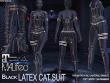 MALified - Latex Cat Suit Outfit (Black): Maitreya Only