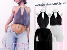 Lunar - Nami Dress & Top - Black (Boxed)