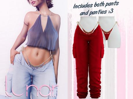 Lunar - Nami Pants & Panties - Crimson Red