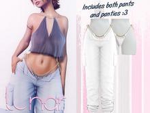 Lunar - Nami Pants & Panties - White