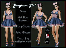 [DB] Retro 50's Gingham Costume Complete Outfit - Maitreya Slink