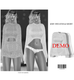 Belle. Knitted Sweater & Shorts [DEMO] ::Kloss::