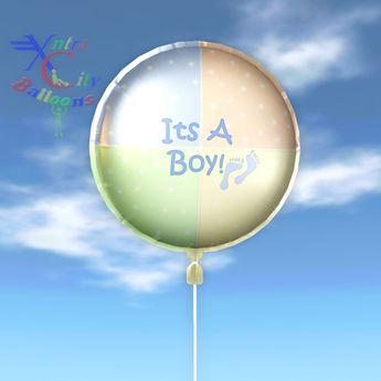 Balloon - Its A Boy Footprints - Transfer - Xntra City Balloons