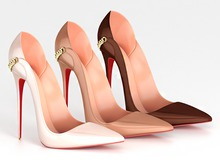 Salvadori - Nude 'Anita' Patent Leather Pumps