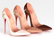 Salvadori - Nude 'Anita' Patent Leather Pumps