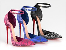 Salvadori - Neon 'Medusa' Python Ankle Strap Pumps