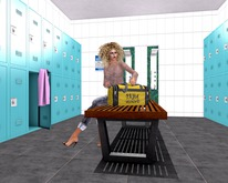 "CEBO backdrop ""LOCKER ROOM""  boxed"