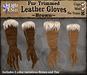 *LightStar - Fur Trimmed Gloves-Brown