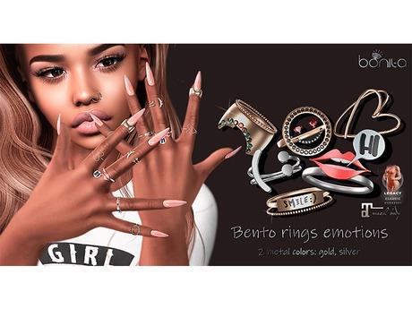 Bonita* bento rings emotions
