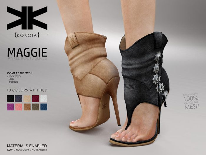 Maggie :: Ankle Boots :: 10 Colors :: {kokoia}