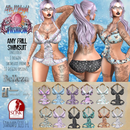 ::AMF:: Amy Frill Swimsuit Pastel Space