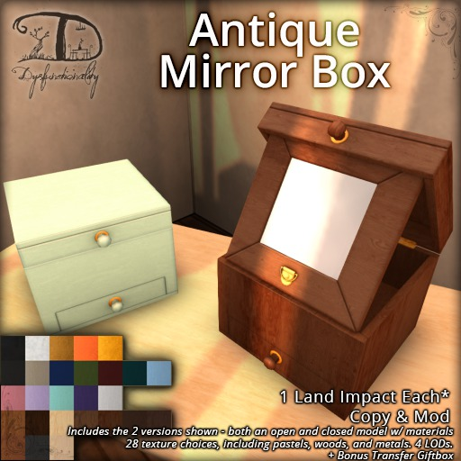 [DDD] Antique Mirror Boxes - 1 LI Decorative Clutter