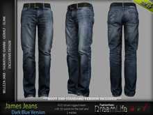 JAMES DARK BLUE JEANS DENIM PANTS - MESH - SIGNATURE GIANNI - GERALT, SLINK, BELLEZA JAKE