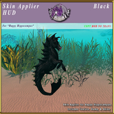 *E* Happy Hippocampus Skin Applier [BOXED] Black