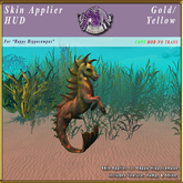 *E* Happy Hippocampus Skin Applier [BOXED] Gold/Yellow