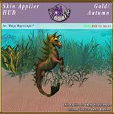 *E* Happy Hippocampus Skin Applier [BOXED] Gold/Autumn